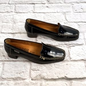 Mephisto  Black Patent Leather Loafers size 7.5